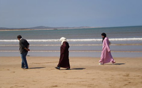 Locals on the beach - Morocco
